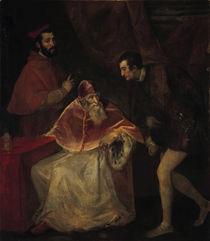 Papst Paul III. und Neffen / Tizian by AKG  Images