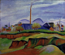 August Macke, Landschaft mit Fabrik by AKG  Images