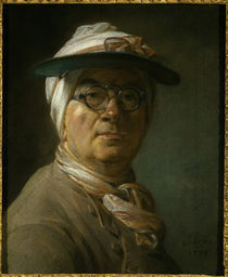 J.B.S.Chardin, Selbstbild.m.Augenschirm by AKG  Images