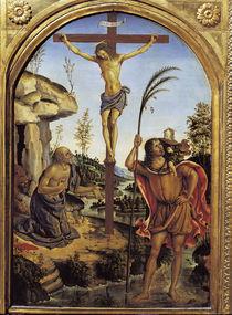 Pinturicchio, Christus mit Heiligen by AKG  Images
