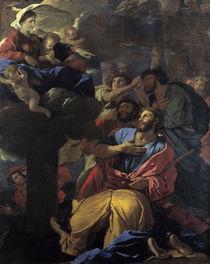Nicolas Poussin, Maria erscheint Jakobus by AKG  Images