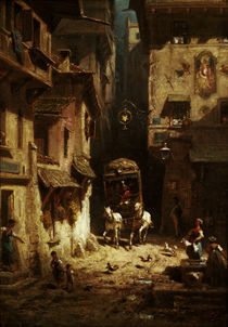 Spitzweg, Die Post/ um 1880 by AKG  Images