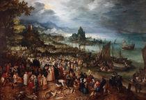 Jan Bruegel d.Ae., Seehafen mit Predigt by AKG  Images