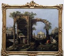 Canaletto, Capriccio mit klass.Motiven von AKG  Images