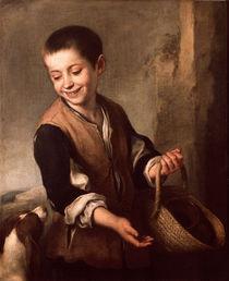 Murillo, Junge mit Hund von AKG  Images