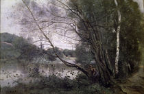 C.Corot, Teich mit sich neigendem Baum von AKG  Images
