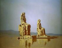 Theben-West, Memnons-Kolosse / Spitzweg von AKG  Images