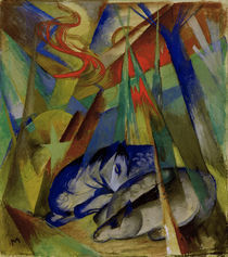 Franz Marc, Schlafende Tiere by AKG  Images