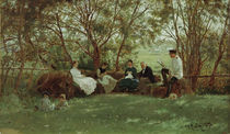 Ilja Repin, Auf einer Rasenbank by AKG  Images