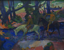 P.Gauguin, Die Furt oder Die Flucht by AKG  Images