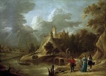 D.Teniers d.J., Landschaft mit Burg und by AKG  Images