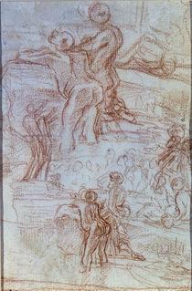 Bernini/Zuhoerende/Predigt Joh.Taeufer1664 von AKG  Images