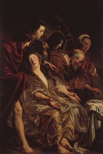 Jacob Jordaens, Angehoerige Christi a.Gr. by AKG  Images