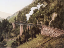 Hoellentalbahn, Viadukt / Photochrom von AKG  Images