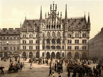 Muenchen, Neues Rathaus / Photochrom by AKG  Images