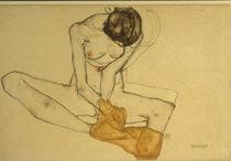 E. Schiele, Weiblicher Akt/ 1913 von AKG  Images