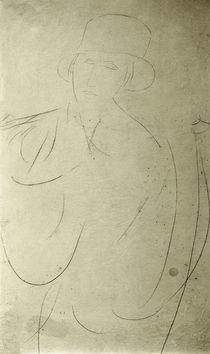 A.Modigliani, Frau mit Hut (Zeichnung) von AKG  Images