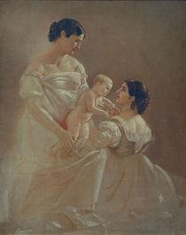 A.Feuerbach, Zwei Frauen mit Kind by AKG  Images