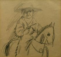 A.Macke, Walter als Cowboy / Zeichnung von AKG  Images