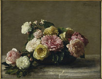 H.Fantin Latour, Roses dans une coupe von AKG  Images