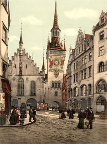 Muenchen, Altes Rathaus / Photochrom by AKG  Images