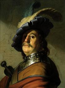 Rembrandt, Soldat mit Halskragen und ... by AKG  Images