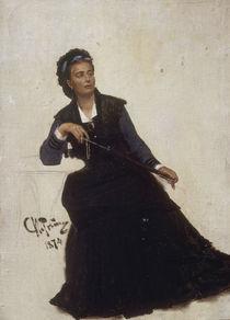 I.Repin, Dame, mit dem Schirm spielend by AKG  Images