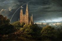 K.F.Schinkel, Mittelalterliche Stadt.... von AKG  Images