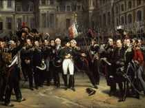Abschied Napoleons 1814 /Gemaelde/Vernet by AKG  Images
