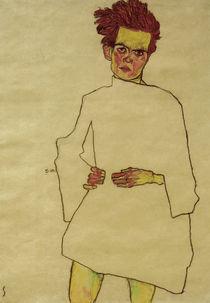 Egon Schiele, Selbstbildnis mit Hemd von AKG  Images