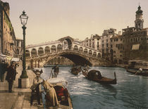 Venedig, Ponte di Rialto / Foto c.1890 von AKG  Images