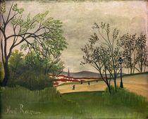 H.Rousseau, Landschaft mit Kirchturm by AKG  Images