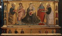 B.Gozzoli, Maria mit Kind und Heiligen by AKG  Images