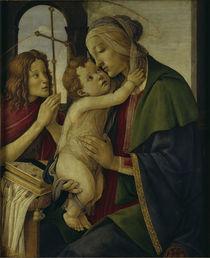 Botticelli, Maria mit Kind und Johannes von AKG  Images