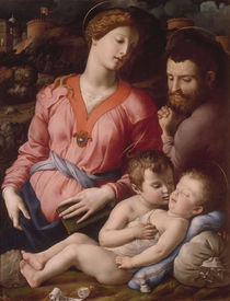 A.Bronzino, Hl.Familie mit Johanneskn. by AKG  Images