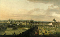 Wien vom Belvedere aus gesehen/Canaletto von AKG  Images