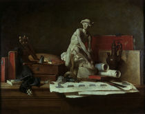 Chardin, Die Attribute der Kunst/ 1766 by AKG  Images