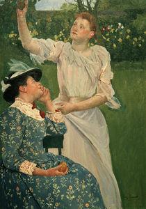 M.Cassatt, Junge Frauen pfluecken Obst von AKG  Images