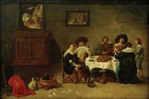 D.Teniers d.J., Gesellschaft beim Mahl by AKG  Images