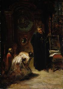 Carl Spitzweg, Die Beichte / um 1875 von AKG  Images