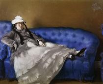 E.Manet, Madame Manet auf blauem Sofa von AKG  Images