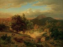 Andreas Achenbach / Roemische Landschaft von AKG  Images