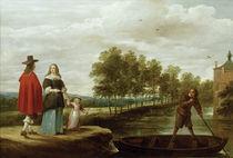 Teniers, Elegante Familie vor Ueberfahrt von AKG  Images