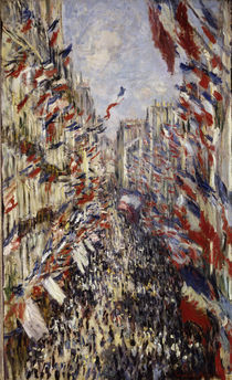 C.Monet, Rue Montorgeuil am 30.Juni 1878 by AKG  Images
