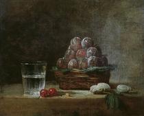 J.B.S.Chardin, Korb mit Pflaumen von AKG  Images
