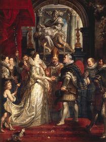 P.P.Rubens,Vermaehlung der Maria Medici by AKG  Images