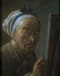 J.B.S.Chardin, Selbstbildnis v.Staffelei von AKG  Images