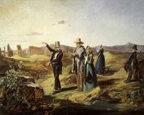 Spitzweg, Englaender in der Campagna/1835 von AKG  Images