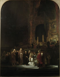 Rembrandt, Christus und Ehebrecherin by AKG  Images