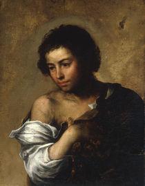 B.E.Murillo, Knabe mit Hand vor Brust von AKG  Images